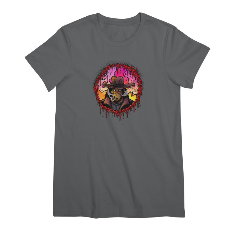 Bullethole Women's Premium T-Shirt by Chimpman-Z Shop