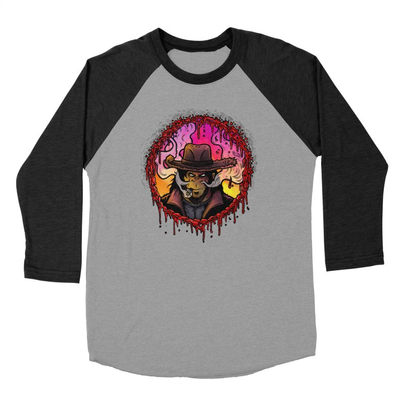 Bullethole Women's Baseball Triblend Longsleeve T-Shirt by Chimpman-Z Shop