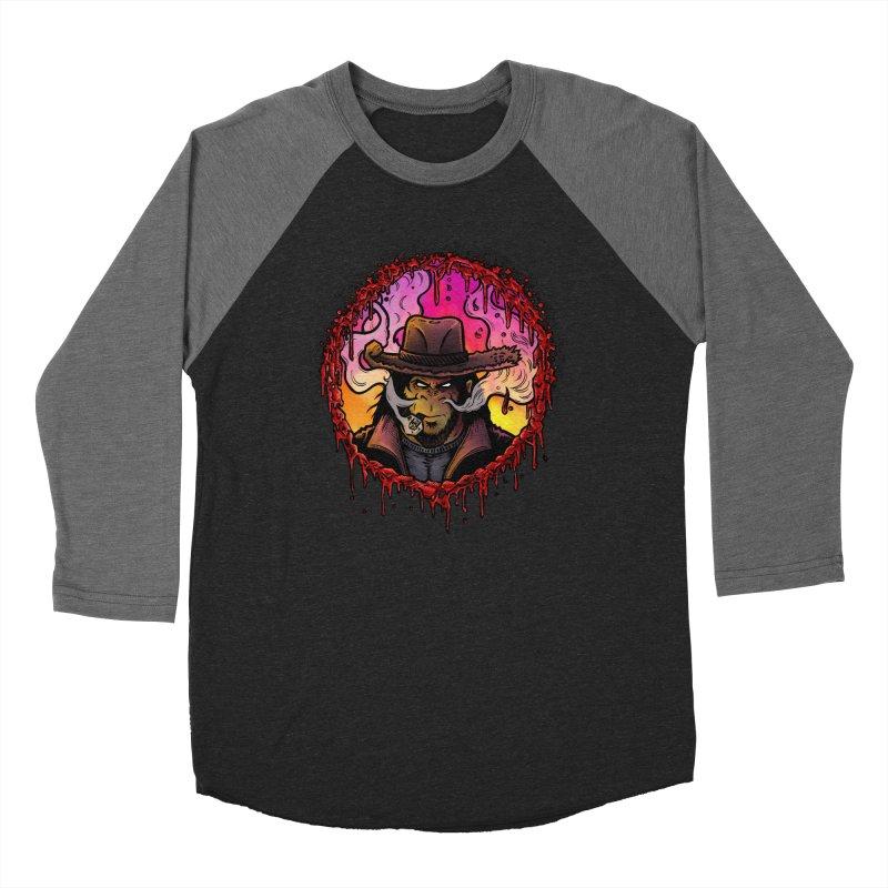 Bullethole Men's Baseball Triblend Longsleeve T-Shirt by Chimpman-Z Shop
