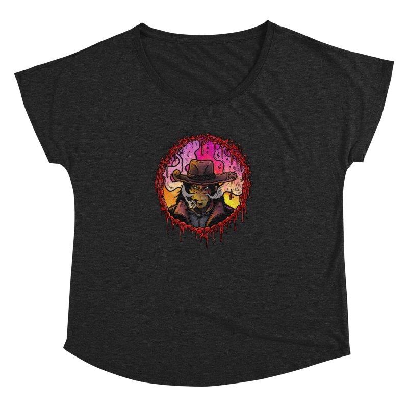 Bullethole Women's Dolman Scoop Neck by Chimpman-Z Shop