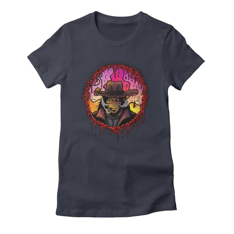 Bullethole Women's Fitted T-Shirt by Chimpman-Z Shop