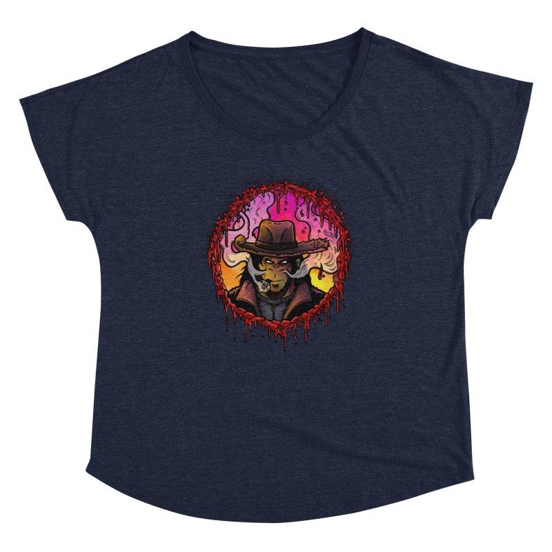 Bullethole Women's Scoop Neck by Chimpman-Z Shop