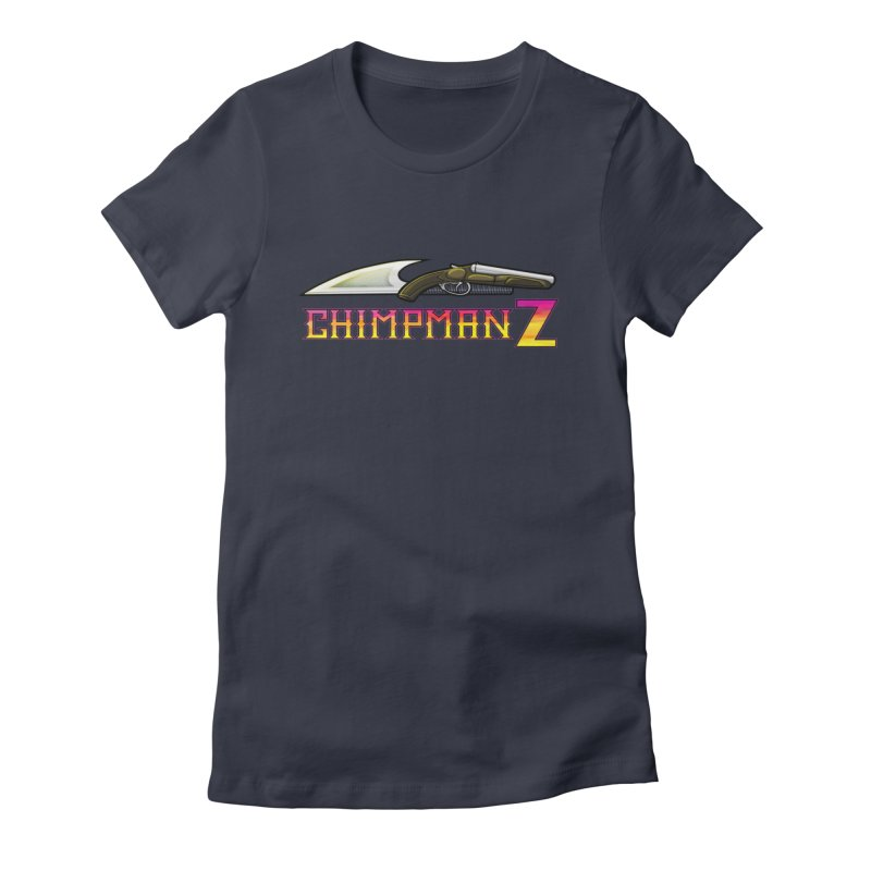 Powder & Steel Women's Fitted T-Shirt by Chimpman-Z Shop