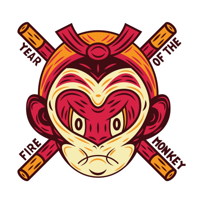 Year of the Fire Monkey by Chimp Sticks