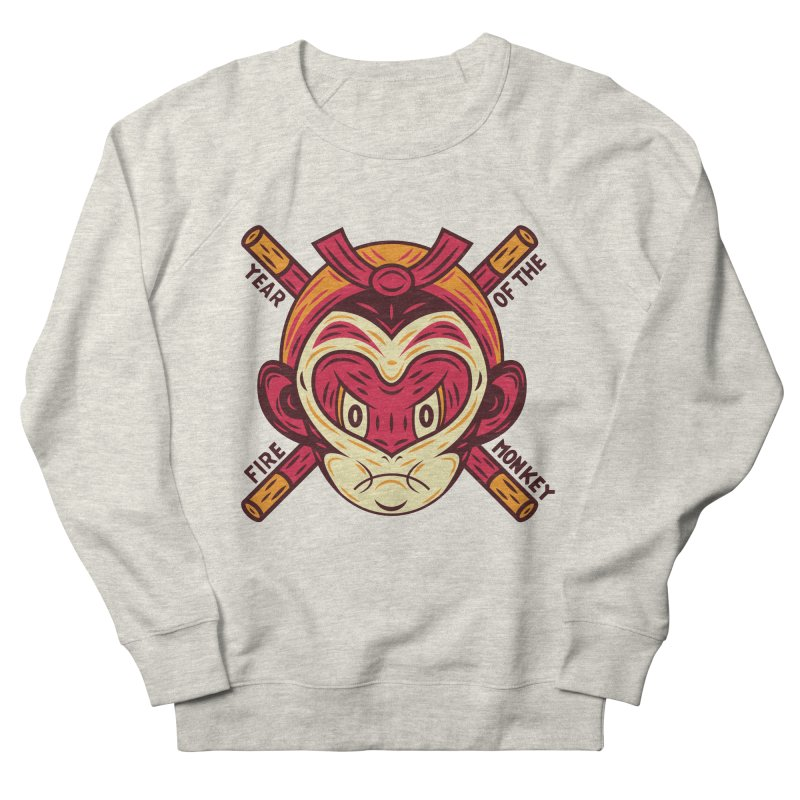 Year of the Fire Monkey Men's Sweatshirt by Chimp Sticks