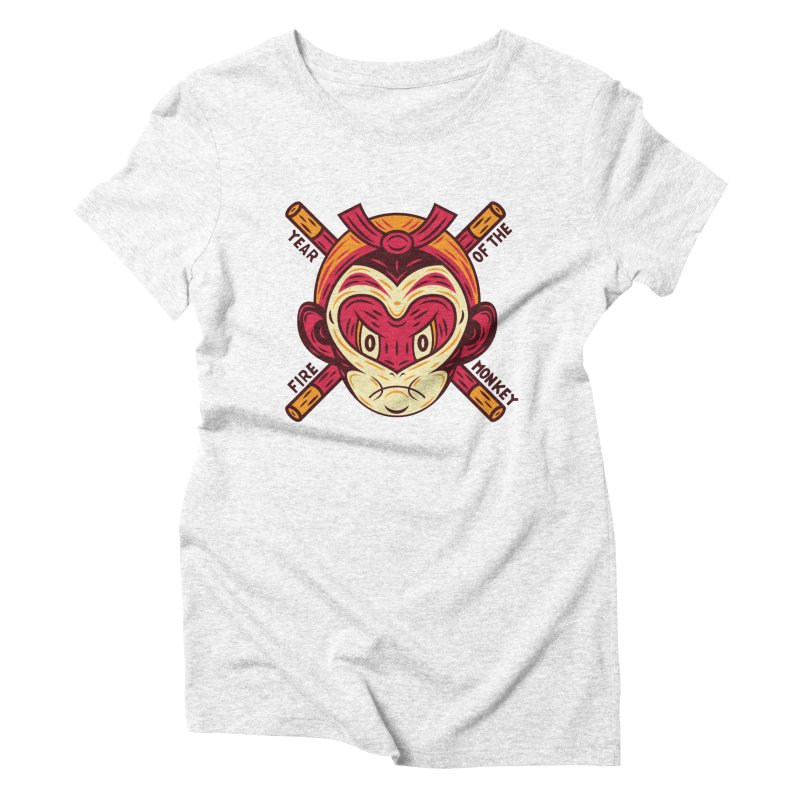 Year of the Fire Monkey Women's Triblend T-shirt by Chimp Sticks