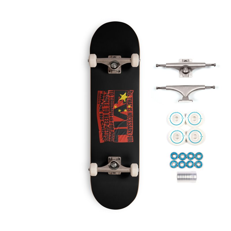 Made in China Accessories Complete - Basic Skateboard by China Sucks™