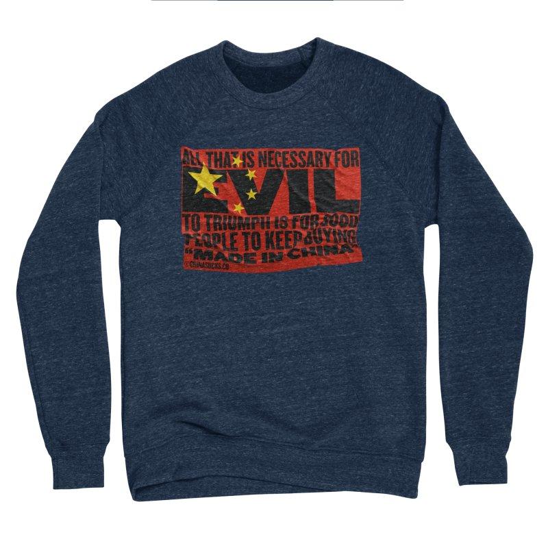 Made in China Men's Sponge Fleece Sweatshirt by China Sucks™