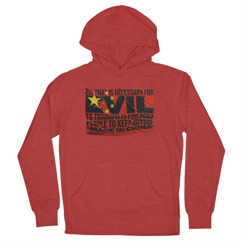 Made in China Men's French Terry Pullover Hoody by China Sucks™