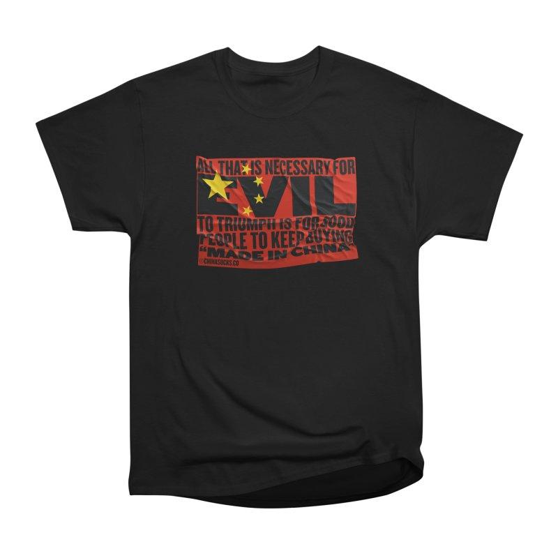 Made in China Women's Heavyweight Unisex T-Shirt by China Sucks™