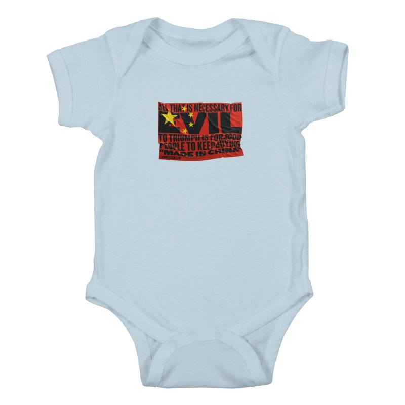 Made in China Kids Baby Bodysuit by China Sucks™