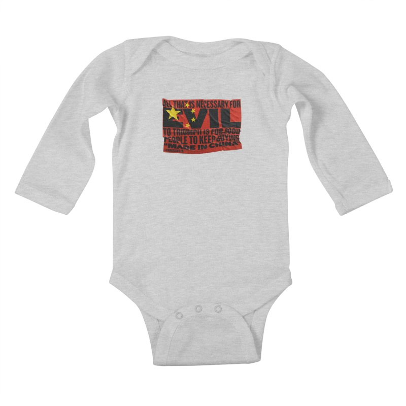 Made in China Kids Baby Longsleeve Bodysuit by China Sucks™