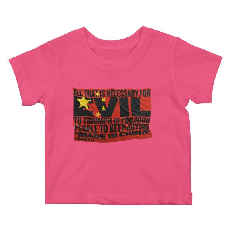 Made in China Kids Baby T-Shirt by China Sucks™