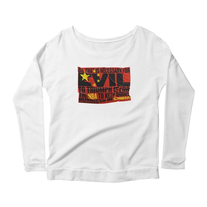 NBA Women's Scoop Neck Longsleeve T-Shirt by China Sucks™