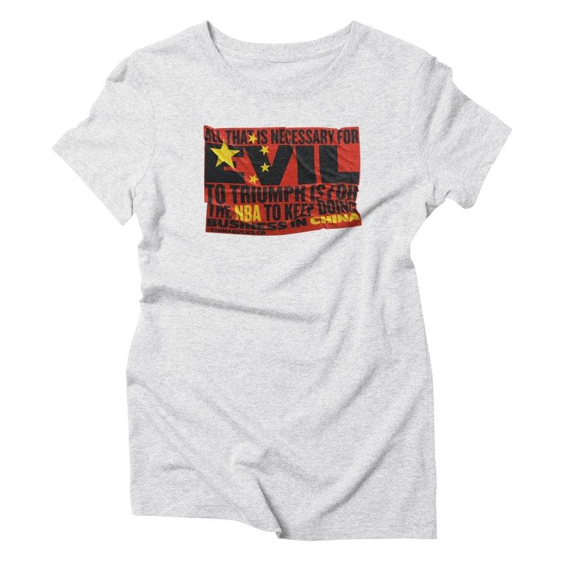 NBA Women's Triblend T-Shirt by China Sucks™