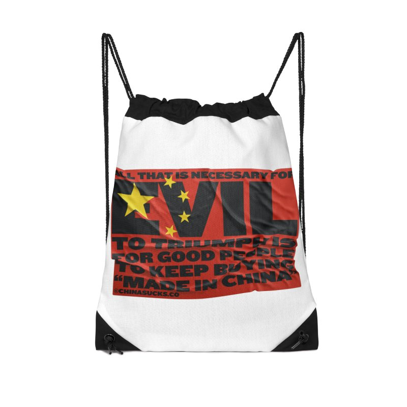 Good People Accessories Drawstring Bag Bag by China Sucks™