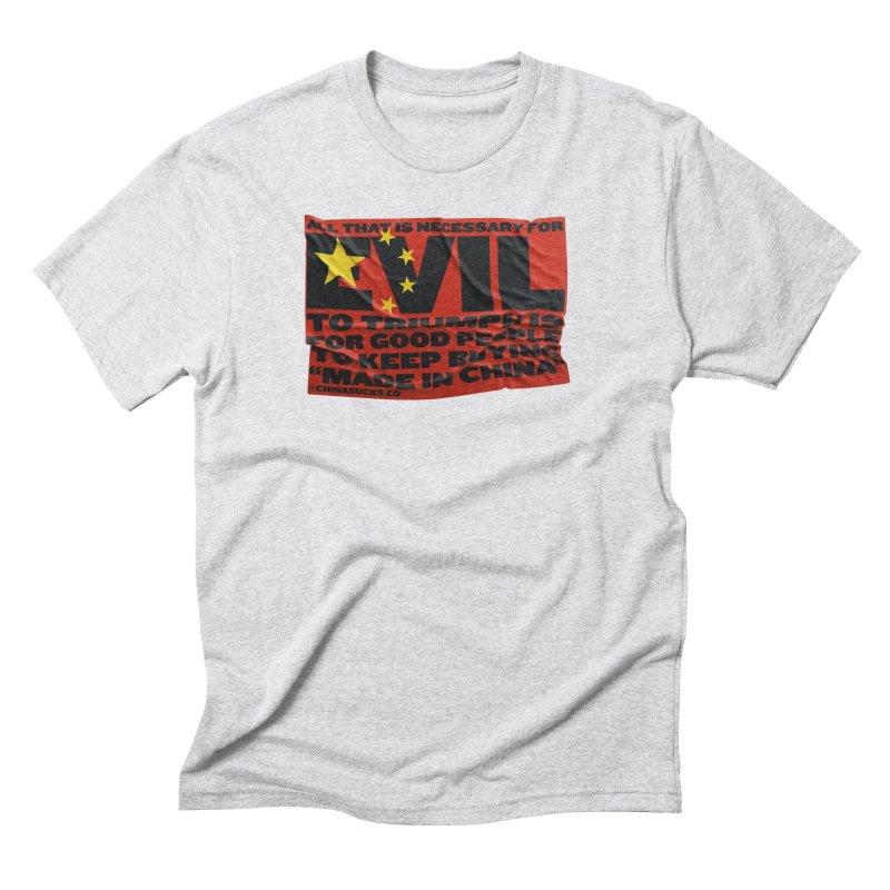 Good People Men's Triblend T-Shirt by China Sucks™