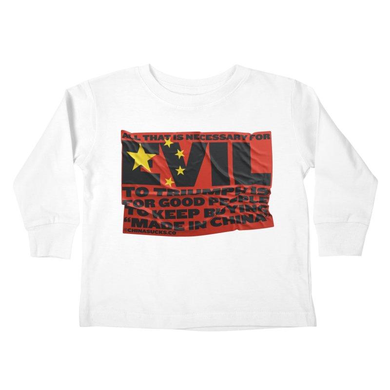 Good People Kids Toddler Longsleeve T-Shirt by China Sucks™