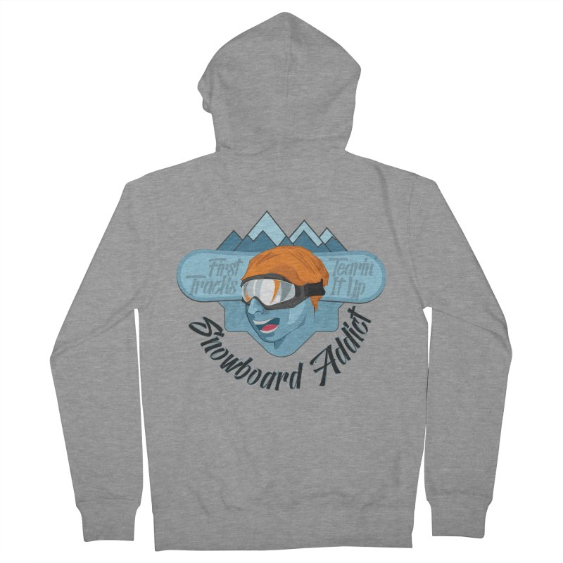 Snowboard Addict Women's Zip-Up Hoody by Florin Chitic