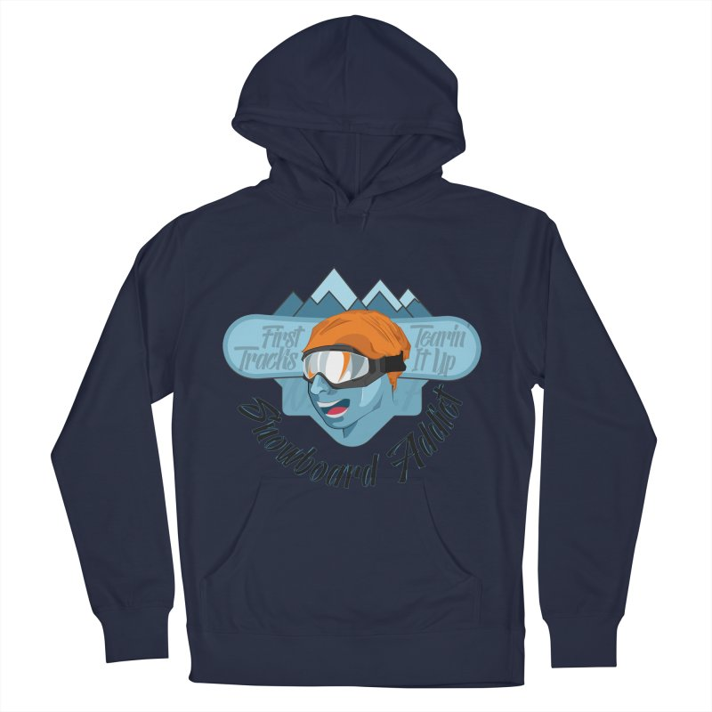 Snowboard Addict Women's French Terry Pullover Hoody by Florin Chitic