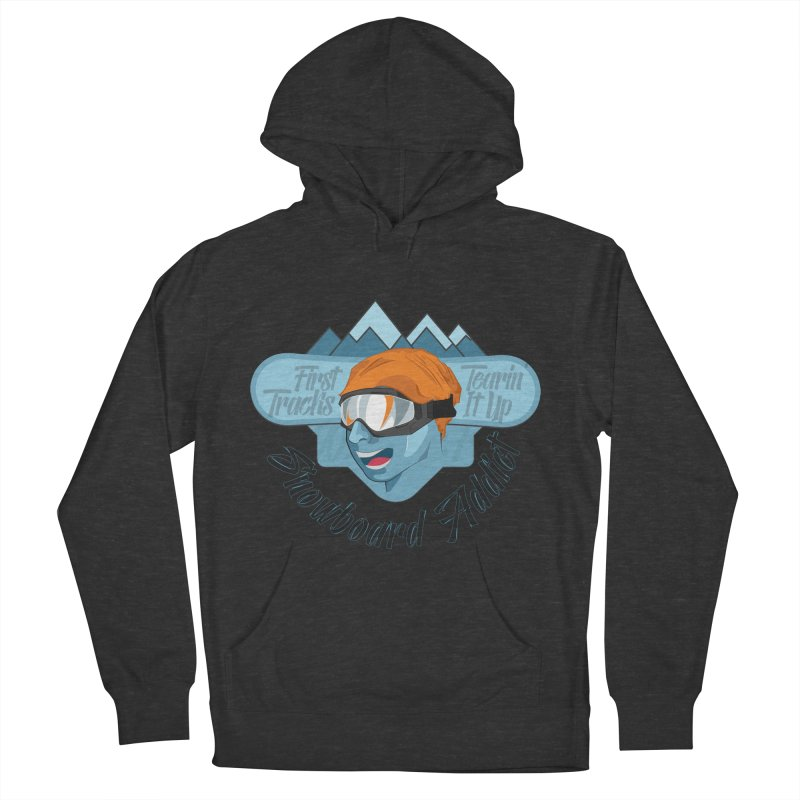 Snowboard Addict Men's French Terry Pullover Hoody by Florin Chitic