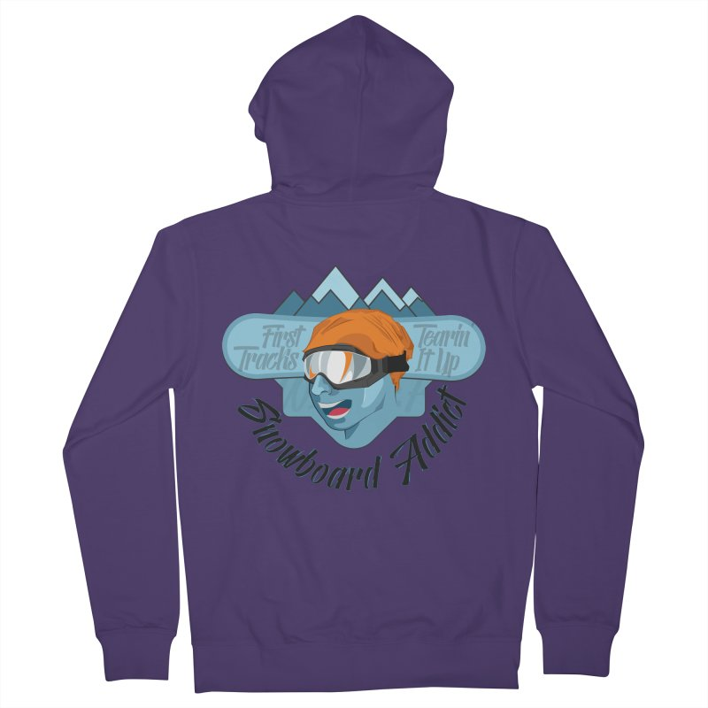 Snowboard Addict Women's French Terry Zip-Up Hoody by Florin Chitic