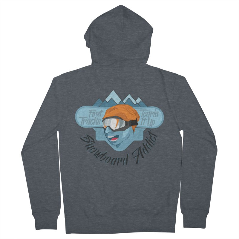 Snowboard Addict Men's French Terry Zip-Up Hoody by Florin Chitic