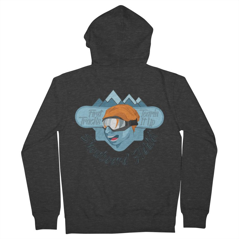 Snowboard Addict Men's Zip-Up Hoody by Florin Chitic