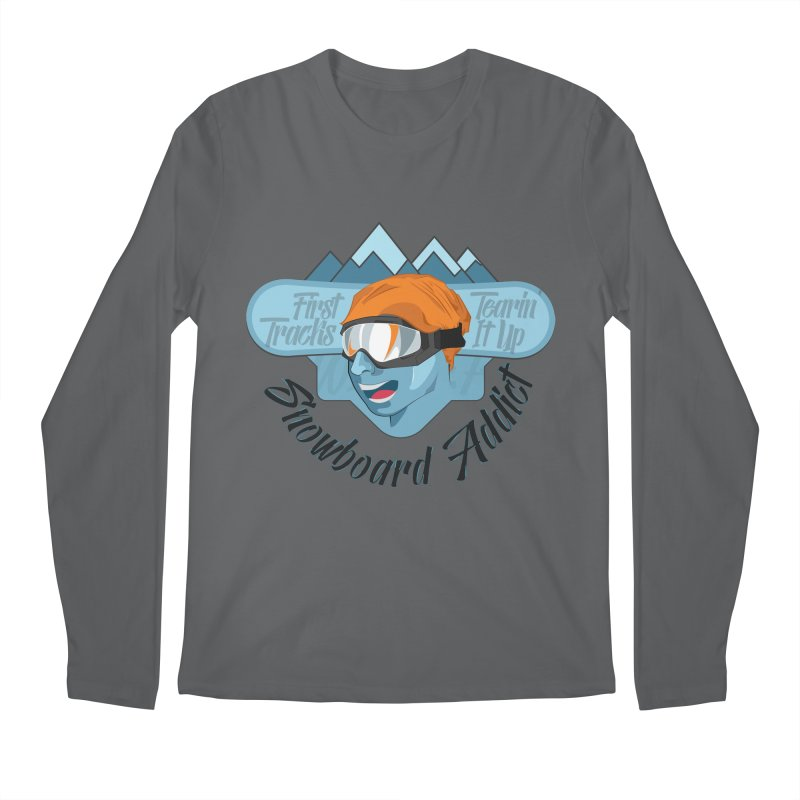 Snowboard Addict Men's Regular Longsleeve T-Shirt by Florin Chitic