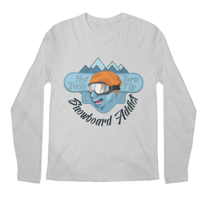 Snowboard Addict Men's Regular Longsleeve T-Shirt by Florin Chitic