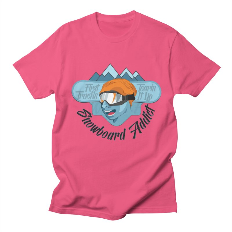 Snowboard Addict Men's T-shirt by Florin Chitic
