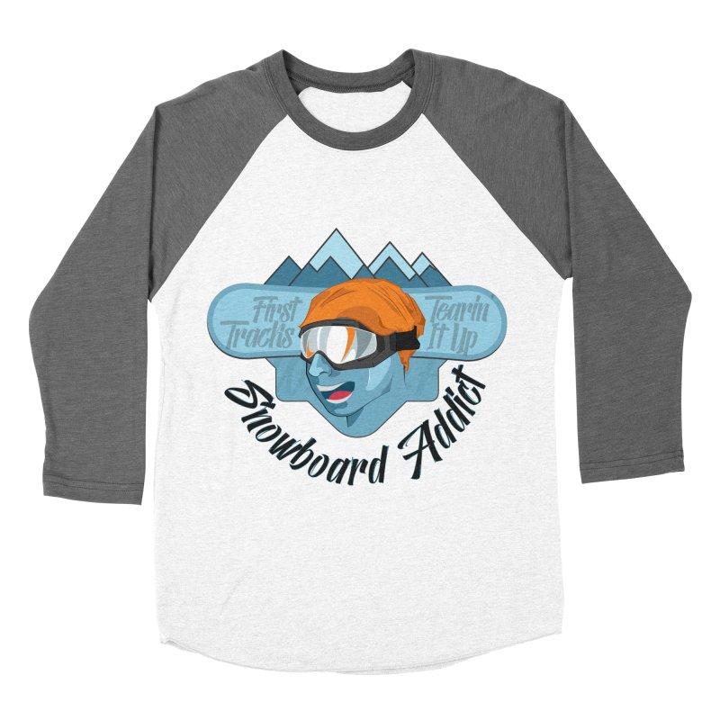 Snowboard Addict Women's Baseball Triblend T-Shirt by Florin Chitic