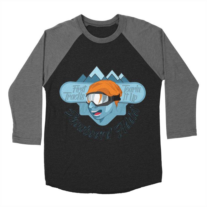Snowboard Addict Women's Baseball Triblend Longsleeve T-Shirt by Florin Chitic