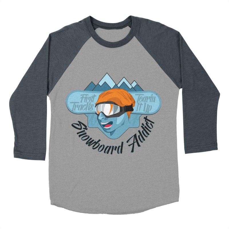 Snowboard Addict Women's Baseball Triblend T-Shirt by Florin Chitic