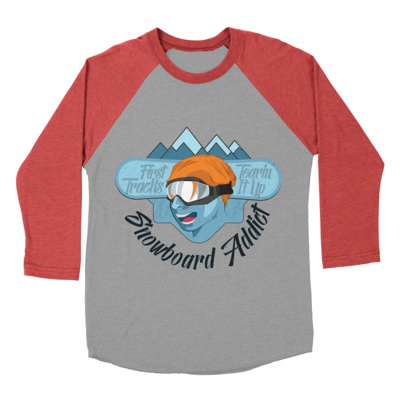 Snowboard Addict Men's Baseball Triblend T-Shirt by Florin Chitic
