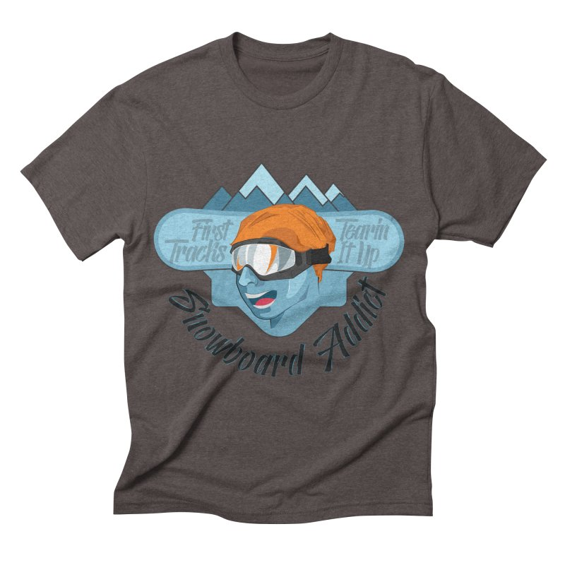 Snowboard Addict Men's Triblend T-shirt by Florin Chitic
