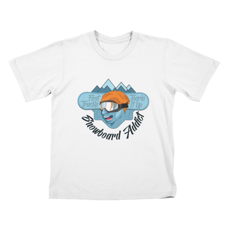 Snowboard Addict Kids T-shirt by Florin Chitic