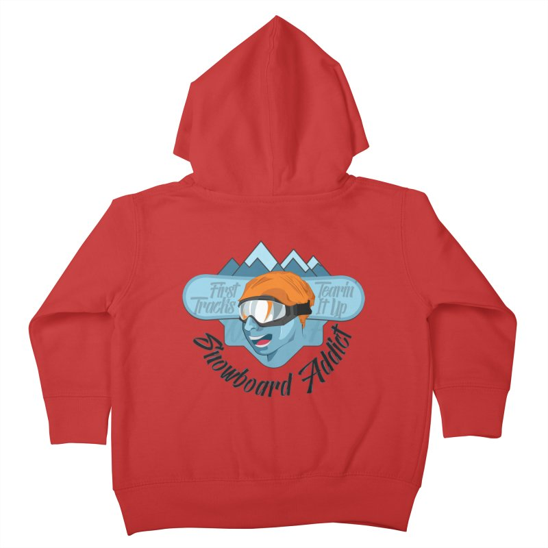Snowboard Addict Kids Toddler Zip-Up Hoody by Florin Chitic