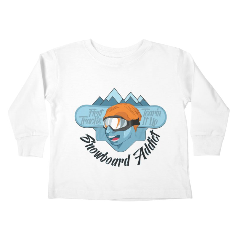 Snowboard Addict Kids Toddler Longsleeve T-Shirt by Florin Chitic