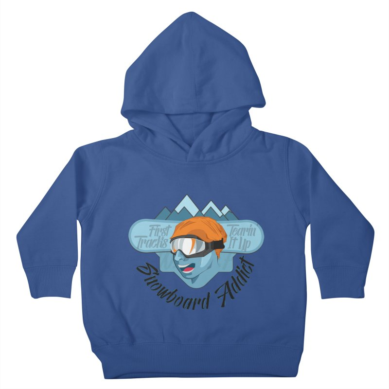 Snowboard Addict Kids Toddler Pullover Hoody by Florin Chitic