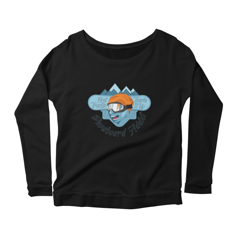 Snowboard Addict Women's Scoop Neck Longsleeve T-Shirt by Florin Chitic