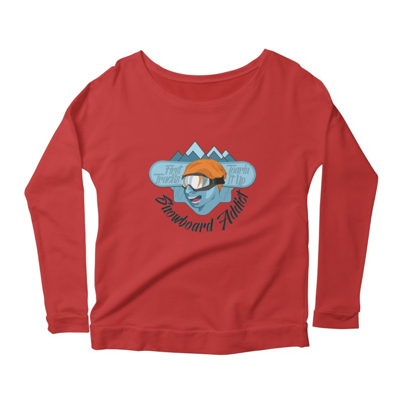 Snowboard Addict Women's Longsleeve Scoopneck  by Florin Chitic