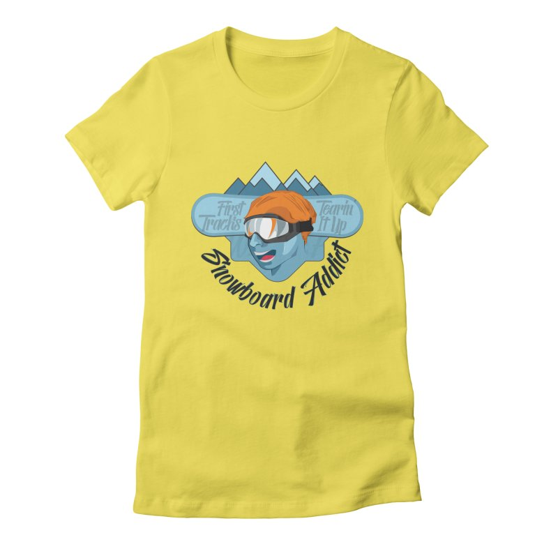 Snowboard Addict Women's Fitted T-Shirt by Florin Chitic