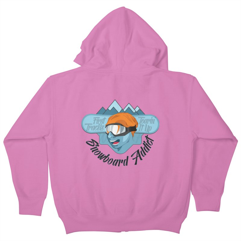Snowboard Addict Kids Zip-Up Hoody by Florin Chitic