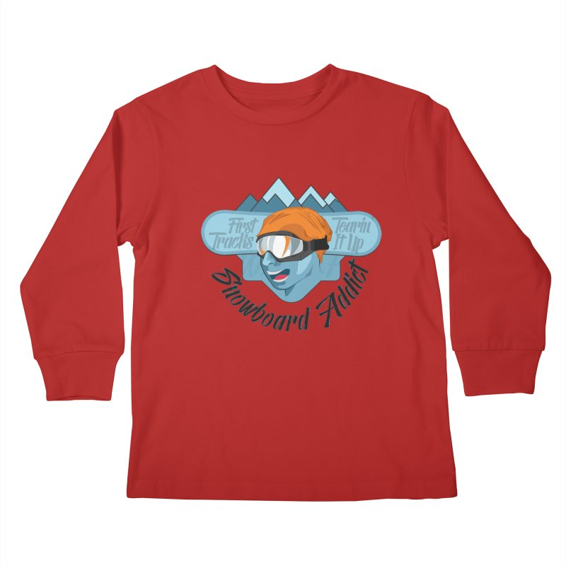 Snowboard Addict Kids Longsleeve T-Shirt by Florin Chitic