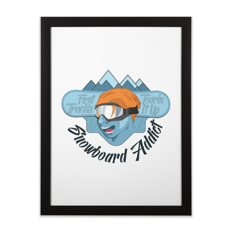 Snowboard Addict Home Framed Fine Art Print by Florin Chitic