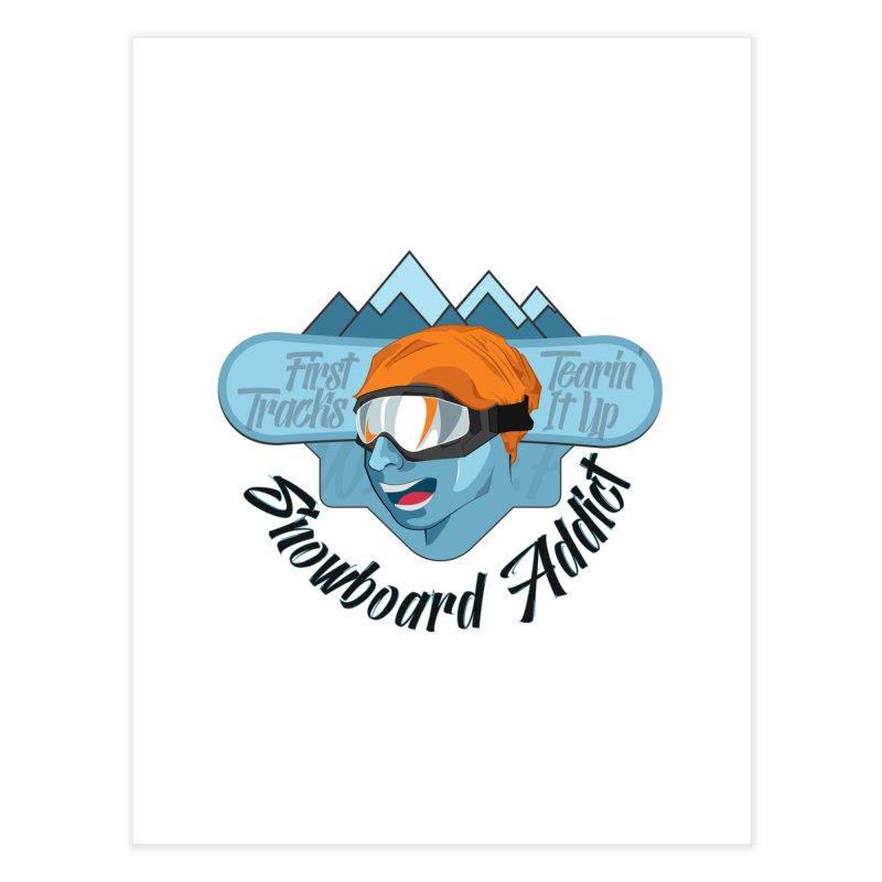 Snowboard Addict Home Fine Art Print by Florin Chitic