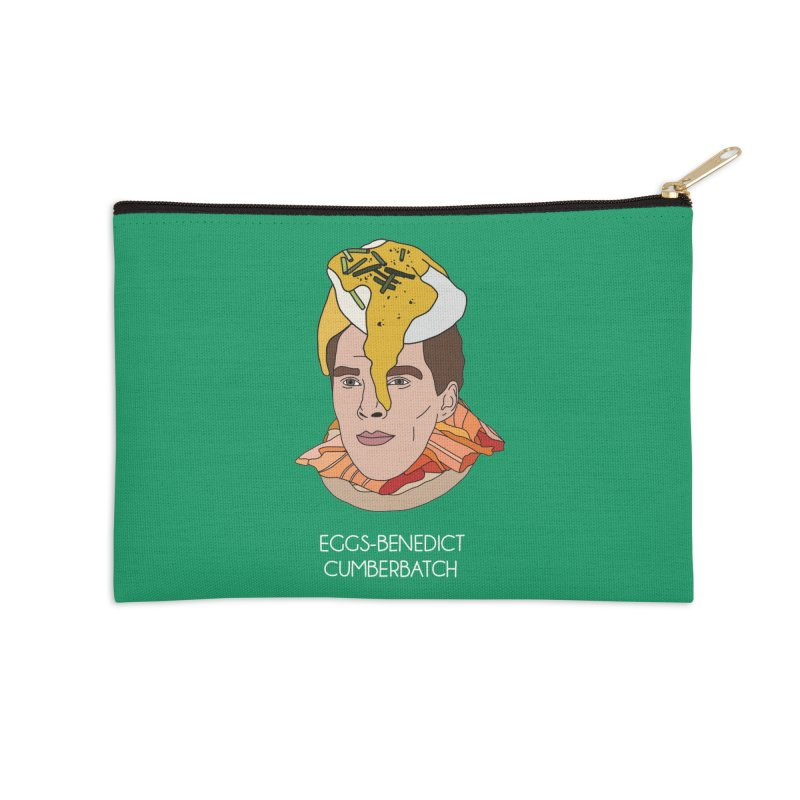 Eggs-Benedict Cumberbatch Accessories Zip Pouch by Chloe Langer