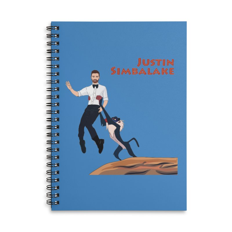 Justin Simbalake Accessories Lined Spiral Notebook by Chloe Langer