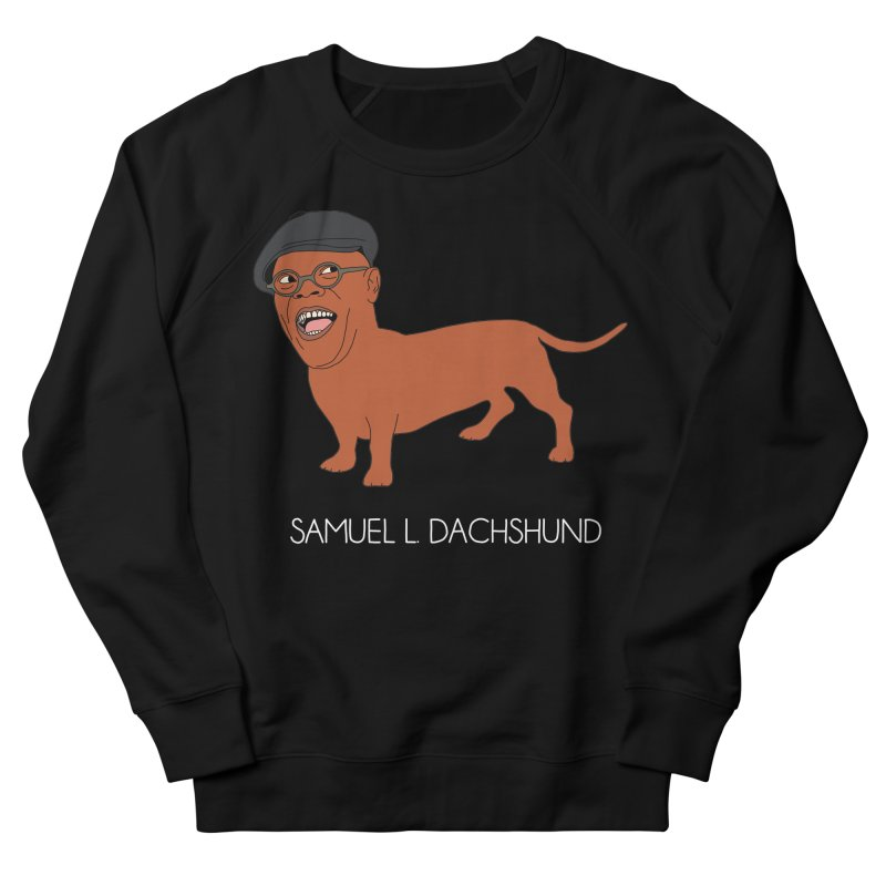 Samuel L. Dachshund Men's French Terry Sweatshirt by Chloe Langer